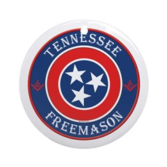 Tennessee Masons Ornament (Round)