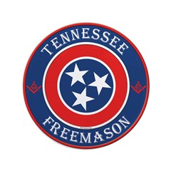 "Tennessee Masons 3.5"" Button"