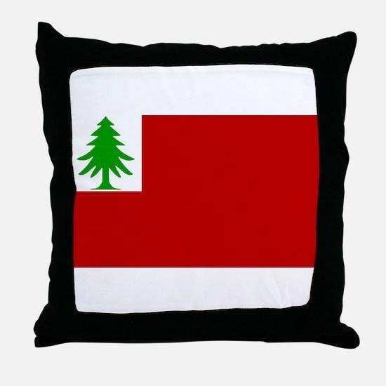New England Flag Throw Pillow