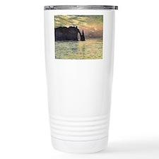 Claude Monet, Cliff Etretat Sunset Travel Mug