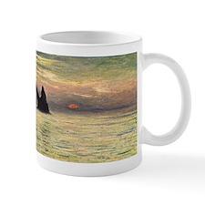 Claude Monet, Cliff Etretat Sunset Mug