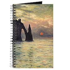 Claude Monet, Cliff Etretat Sunset Journal