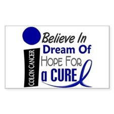 Believe Dream Hope Colon Cancer Decal