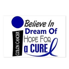 Believe Dream Hope Colon Cancer Postcards (Package