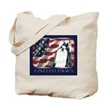 Black/White Shih Tzu Flag Tote Bag