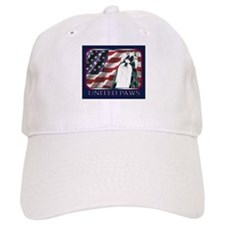 Black/White Shih Tzu Flag Baseball Cap