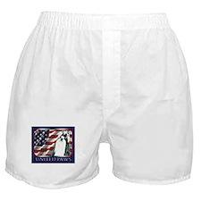 Black/White Shih Tzu Flag Boxer Shorts