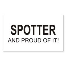 Proud Spotter Rectangle Decal