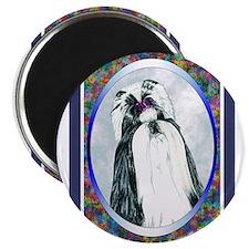 Black/White Shih Tzu Designer Magnet