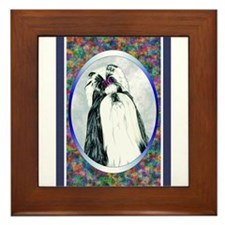 Black/White Shih Tzu Designer Framed Tile