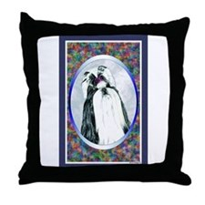 Black/White Shih Tzu Designer Throw Pillow