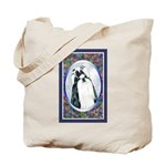 Black/White Shih Tzu Designer Tote Bag