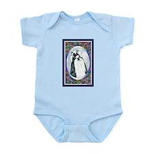 Black/White Shih Tzu Designer Infant Creeper
