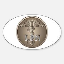 LPN Caduceus Oval Decal