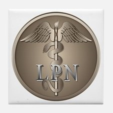 LPN Caduceus Tile Coaster