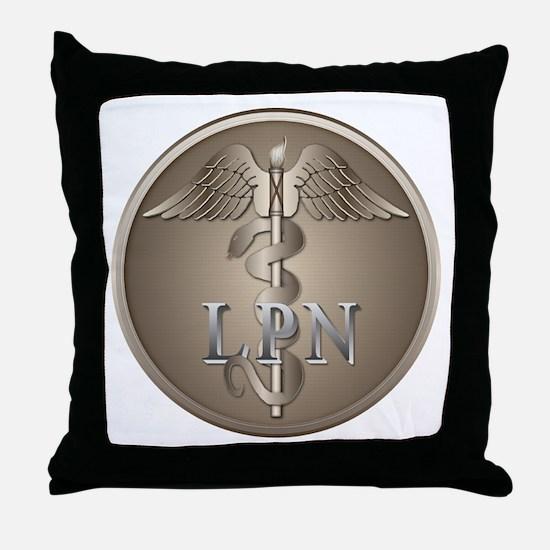 LPN Caduceus Throw Pillow
