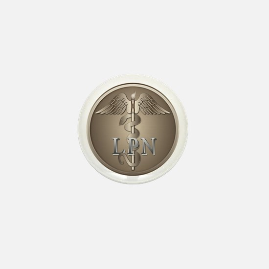 LPN Caduceus Mini Button