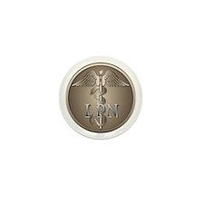 LPN Caduceus Mini Button (100 pack)