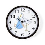 Stork and Baby Boy Wall Clock