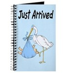 Stork and Baby Boy Journal