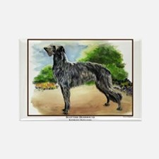 Scottish Deerhound Painting Rectangle Magnet (100