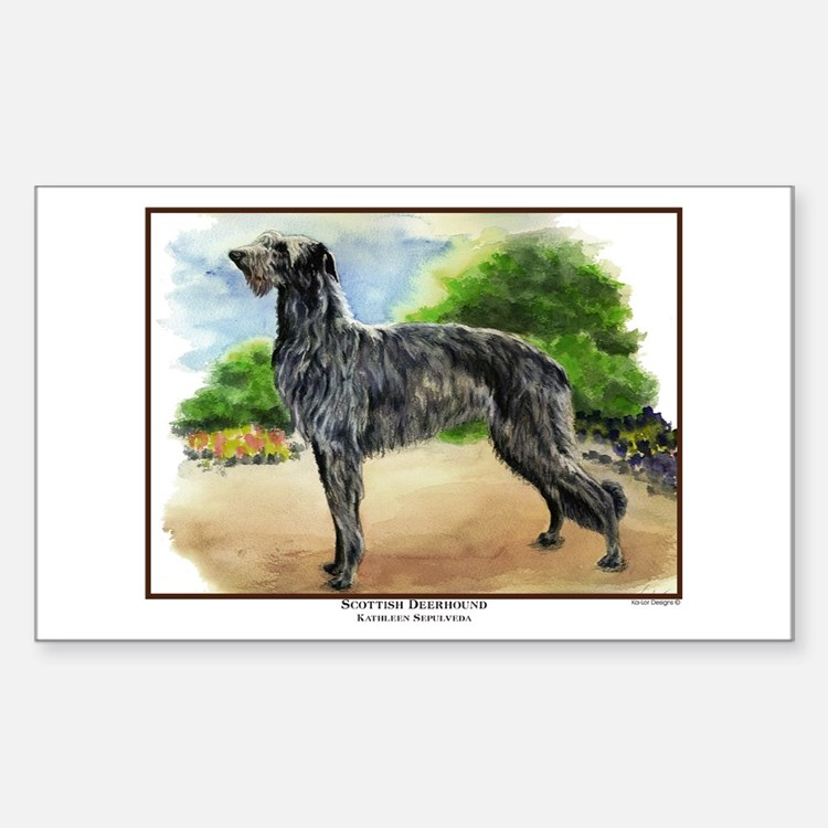 Scottish Deerhound Painting Rectangle Decal