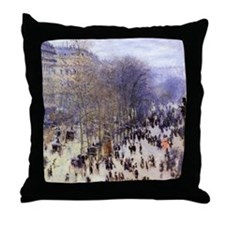 Boulevard des Capucines by Claude Monet Throw Pill