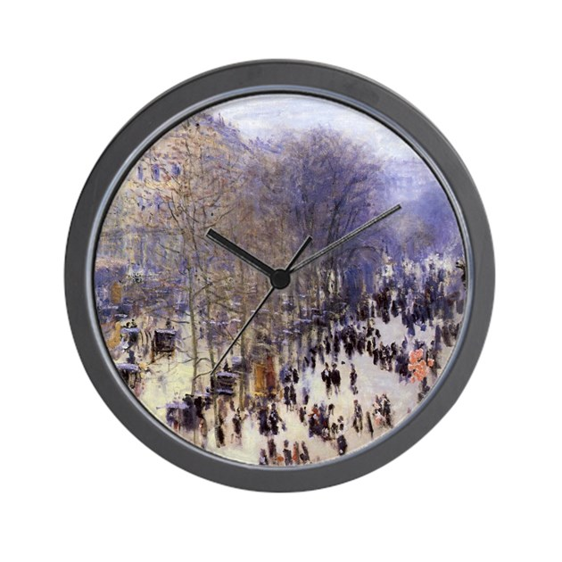 boulevard des capucines by claude monet wall clock by masterpiececafe. Black Bedroom Furniture Sets. Home Design Ideas