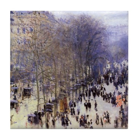 Boulevard des Capucines by Claude Monet Tile Coast