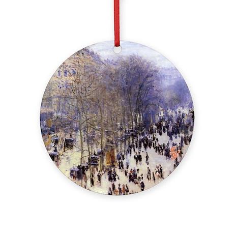 Boulevard des Capucines by Claude Monet Ornament (