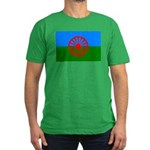 Romani Flag (Gypsies Flag) Men's Fitted T-Shirt (d