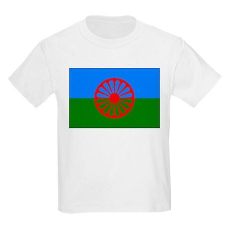 Romani Flag (Gypsies Flag) Kids Light T-Shirt