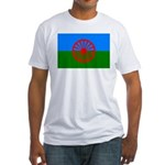 Romani Flag (Gypsies Flag) Fitted T-Shirt