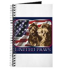 Scottish Deerhound US Flag Journal