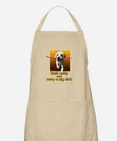Walk Softly... BBQ Apron