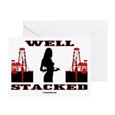 Well Stacked Greeting Cards (Pk of 10),Oil,Gas