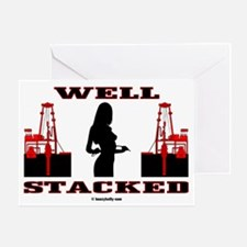 Well Stacked Greeting Card,Oil,Gas,Oil Field