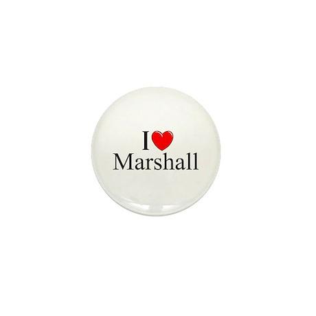 """""""I Love (Heart) Marshall"""" Mini Button"""