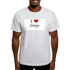 I LOVE SANIYA Ash Grey T-Shirt