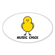 Music Chick Oval Decal