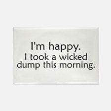 Wicked Dump Rectangle Magnet