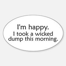 Wicked Dump Oval Decal