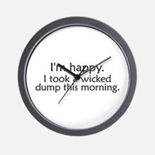 Wicked Dump Wall Clock