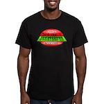 Juneteenth Logo 2 Men's Fitted T-Shirt (dark)