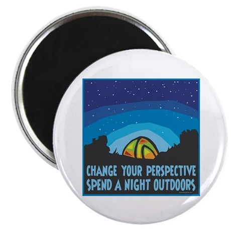 """Tent Camping 2.25"""" Magnet (10 pack)"""