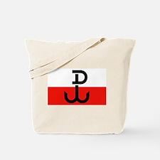 Polish Resistance Flag Tote Bag
