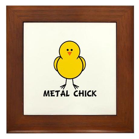 Metal Chick Framed Tile