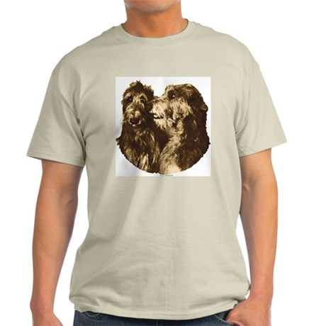 Scottish Deerhound Portrait Ash Grey T-Shirt