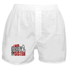 I Wear Grey For My Sister 6 Boxer Shorts