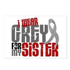I Wear Grey For My Sister 6 Postcards (Package of
